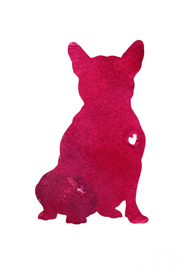 French Bulldog Abstract Dog Art Print Kids Wall Decor Pink Watercolor Painting Dog Art Print