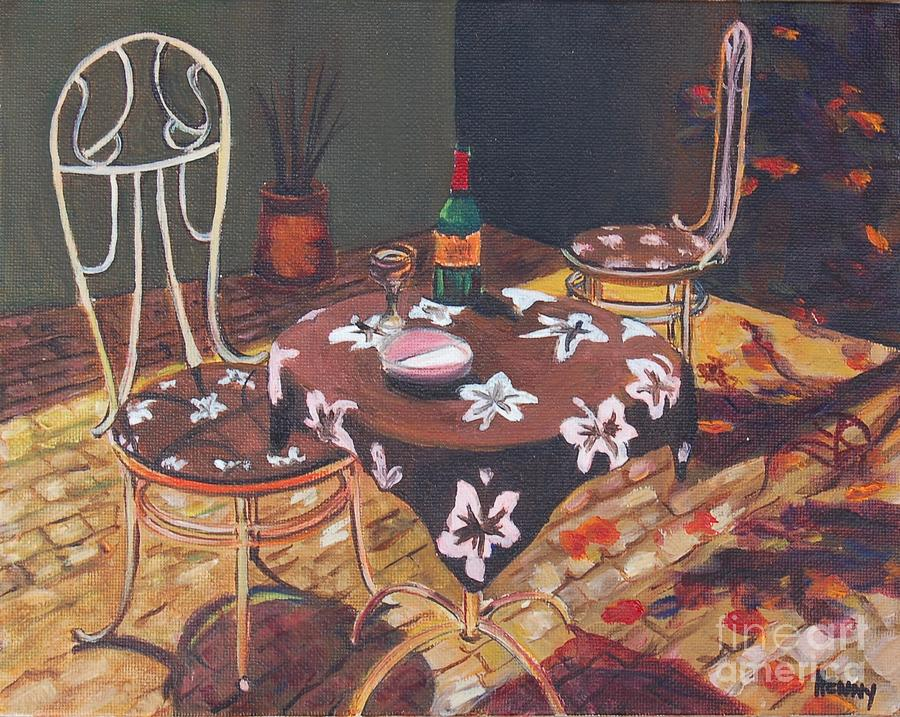 French cafe painting by henny dagenais for Henny and paint
