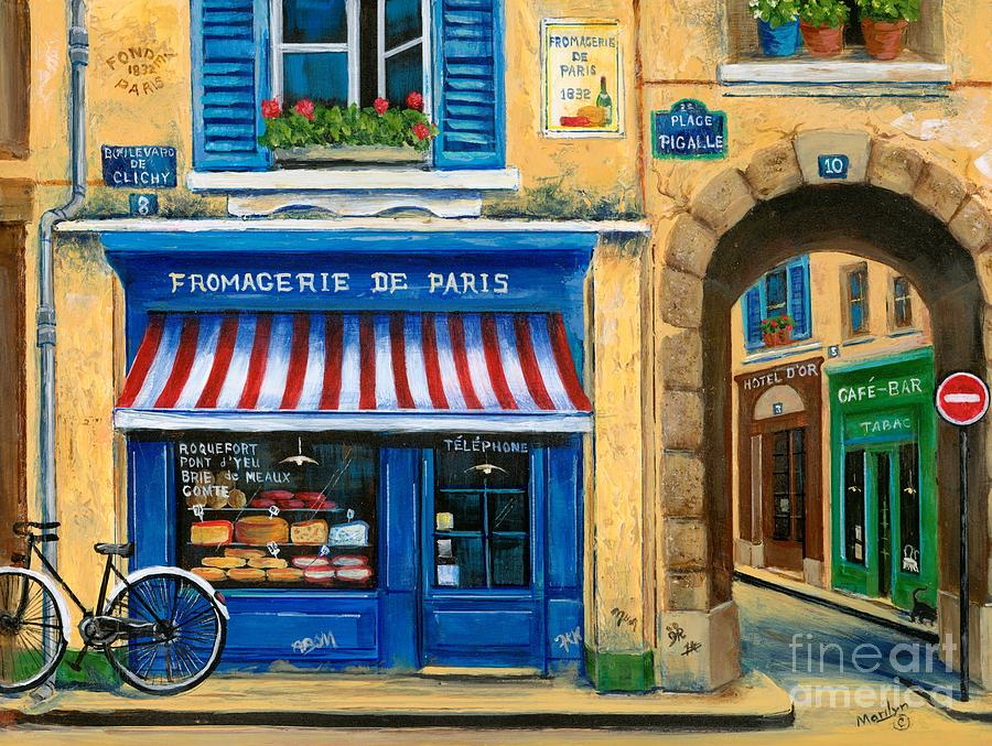 Paris Painting - French Cheese Shop by Marilyn Dunlap