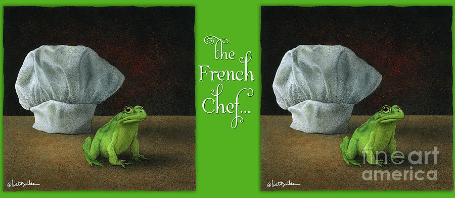 Will Bullas Painting - French Chef... by Will Bullas