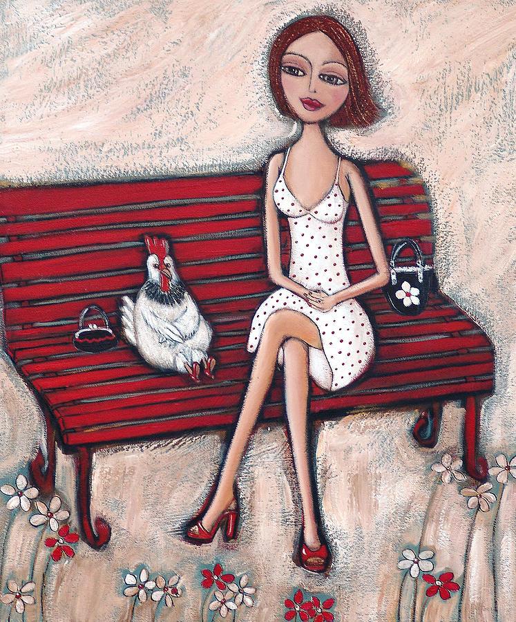 Girl Painting - French Chics by Denise Daffara