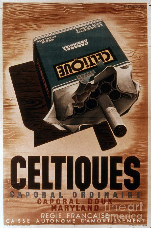 Adolphe Photograph - French Cigarette Ad, 1934 by Granger