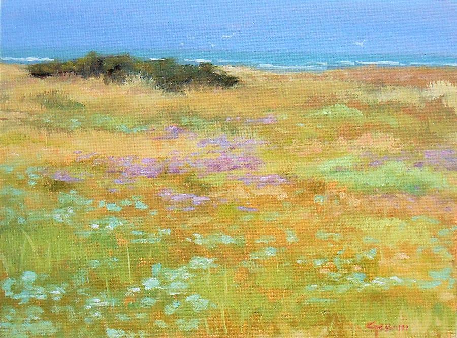 France Painting - French Coastal Landscape by Karim Gebahi