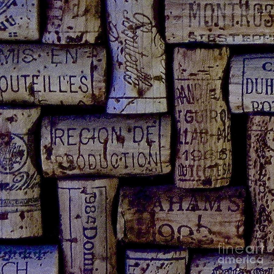 Wine Cellar Photograph - French Corks by Anthony Jones
