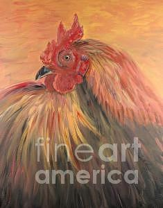 Rooster Painting - French Country Rooster by Nadine Rippelmeyer