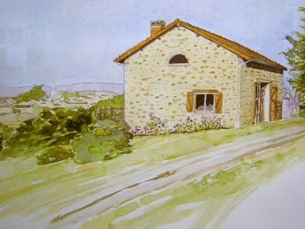 Landscape Painting - French Countryside by Debbie Peate