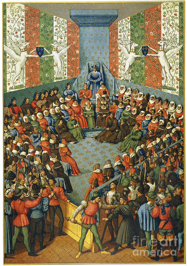 1458 Photograph - French Court, 1458 by Granger