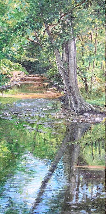 Creek Painting - French Creek by Denise Ivey Telep