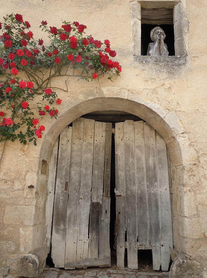Europe Photograph - French Doors And Ghost In The Window by Marilyn Dunlap