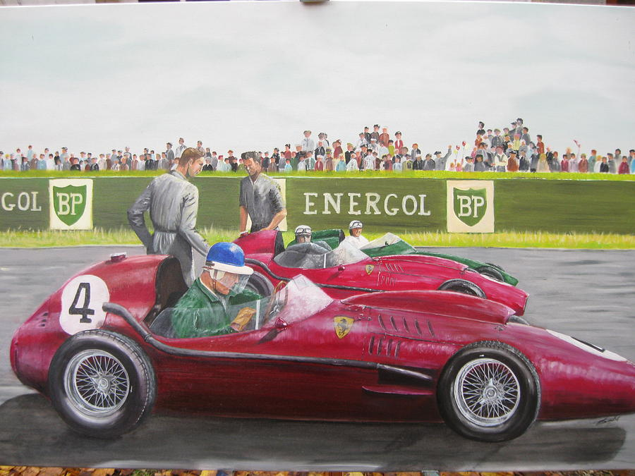 French Gp Reims 1958 Painting by Chris Lambert