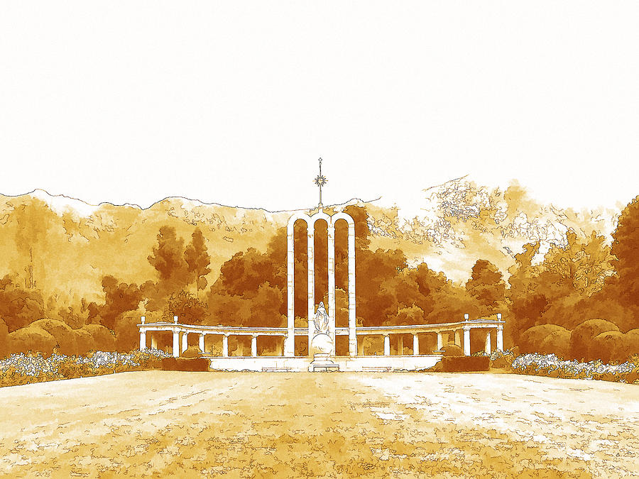 French Digital Art - French Huguenot Monument In Franschhoek  by Jan Hattingh