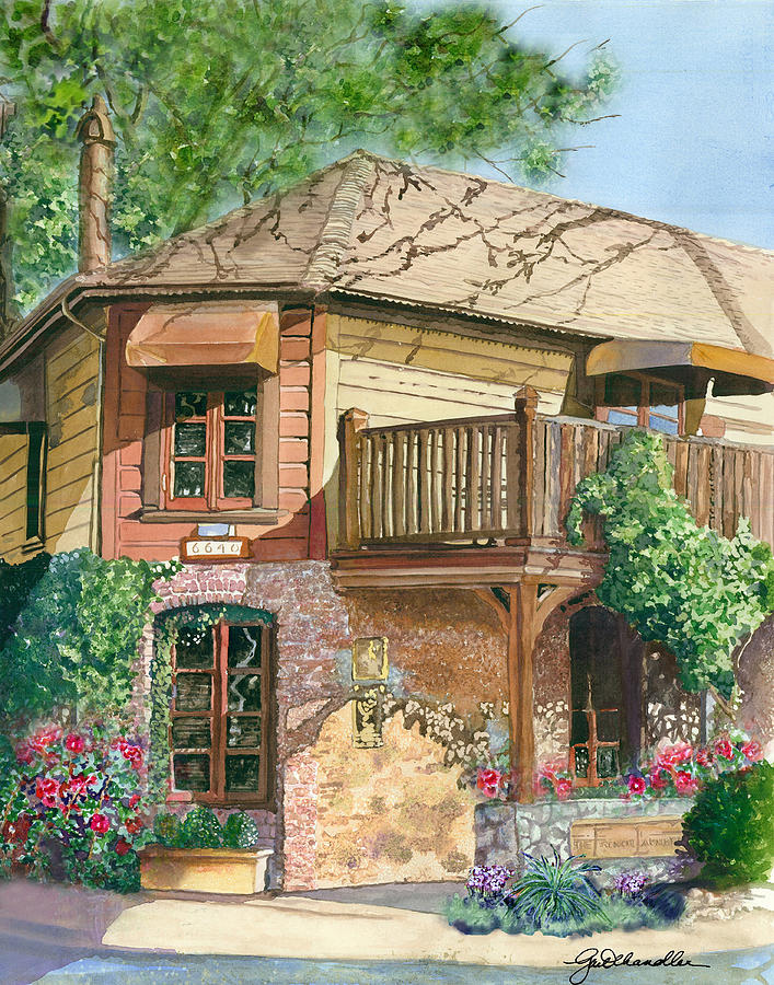 Cityscape Painting - French Laundry Restaurant by Gail Chandler