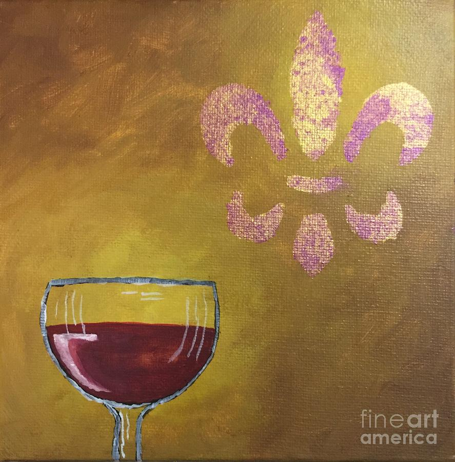 Wine Painting - French Merlot by Buffy Heslin