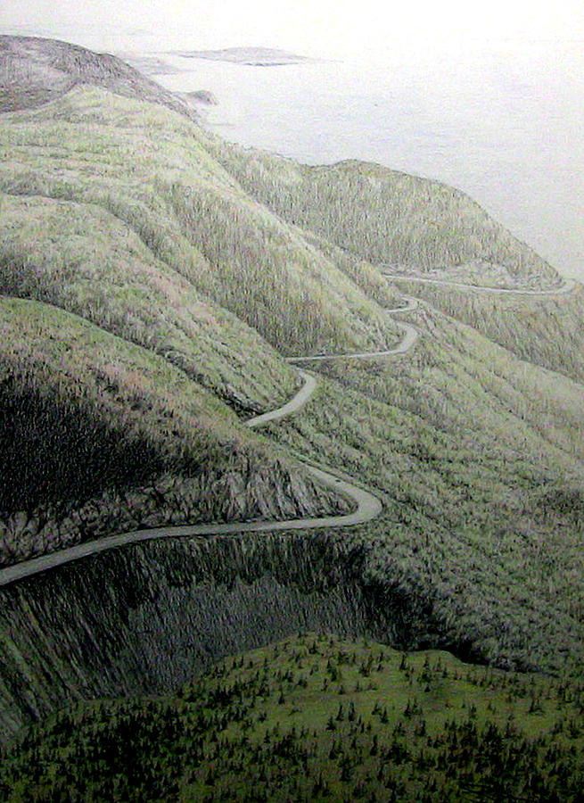 French Mountain At 400 Metres Drawing by Roger Beaudry