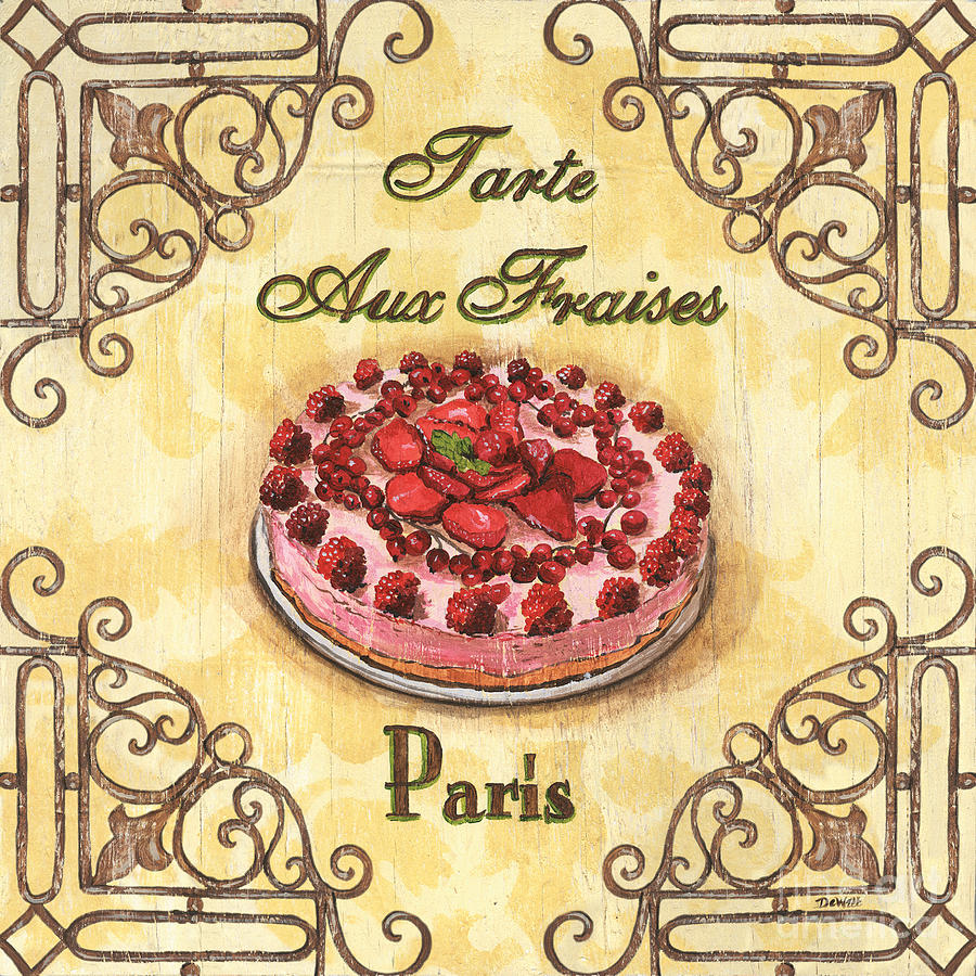 Cuisine Painting - French Pastry 1 by Debbie DeWitt