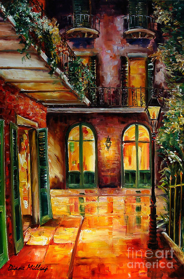 349e5c2b83c French Quarter Alley Painting by Diane Millsap