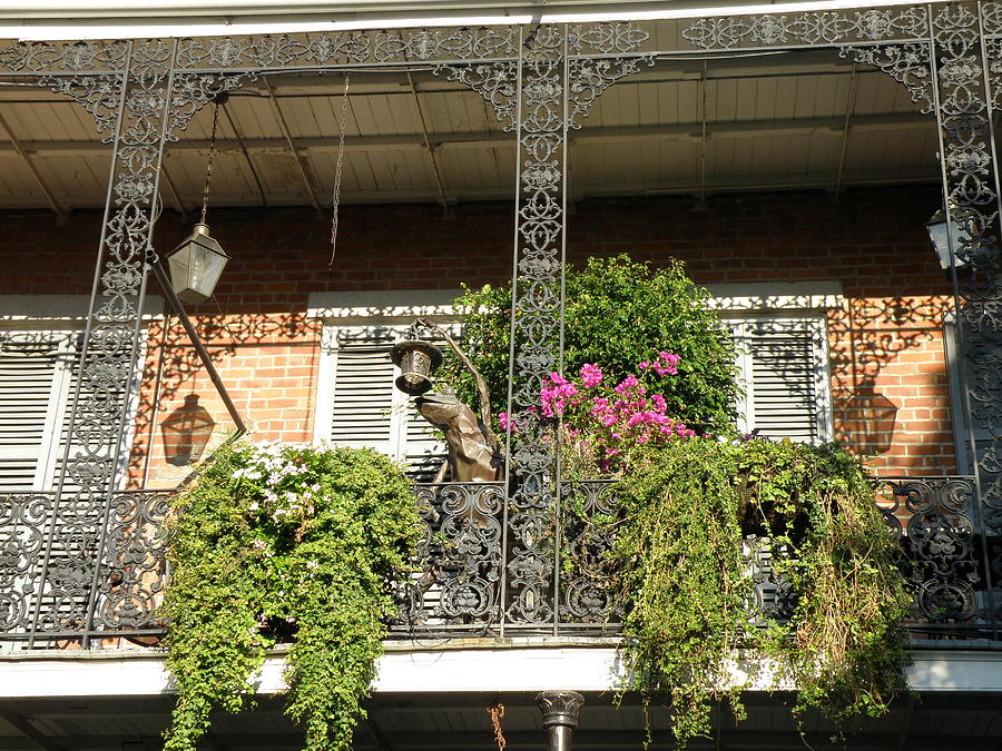 New Orleans Photograph - French Quarter Balcony by Jack Herrington
