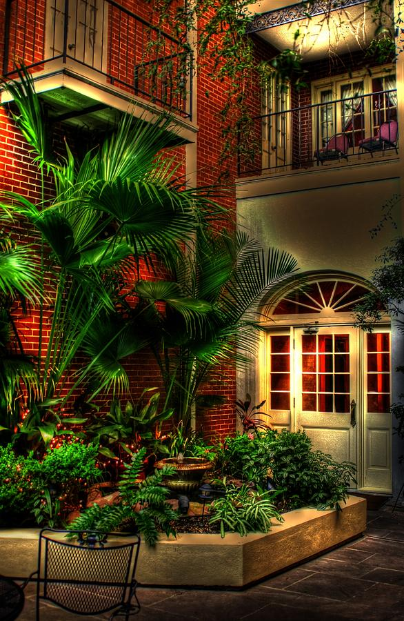 New Orleans Photograph - French Quarter Courtyard by Greg and Chrystal Mimbs