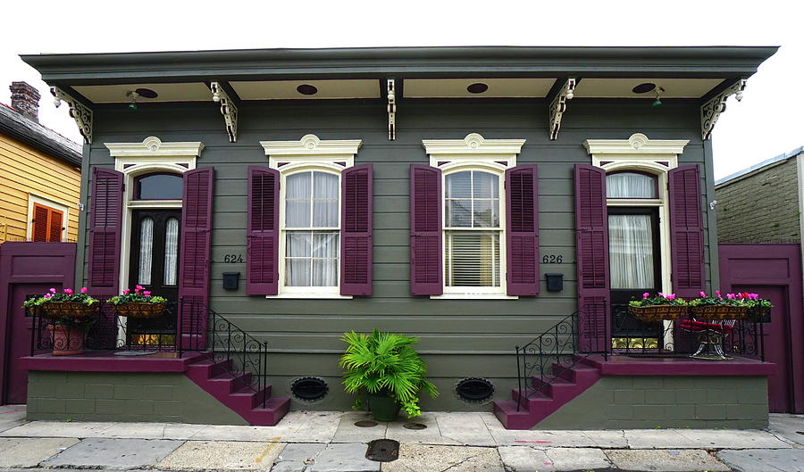French Quarter Home Photograph - French Quarter Home by Chuck Johnson