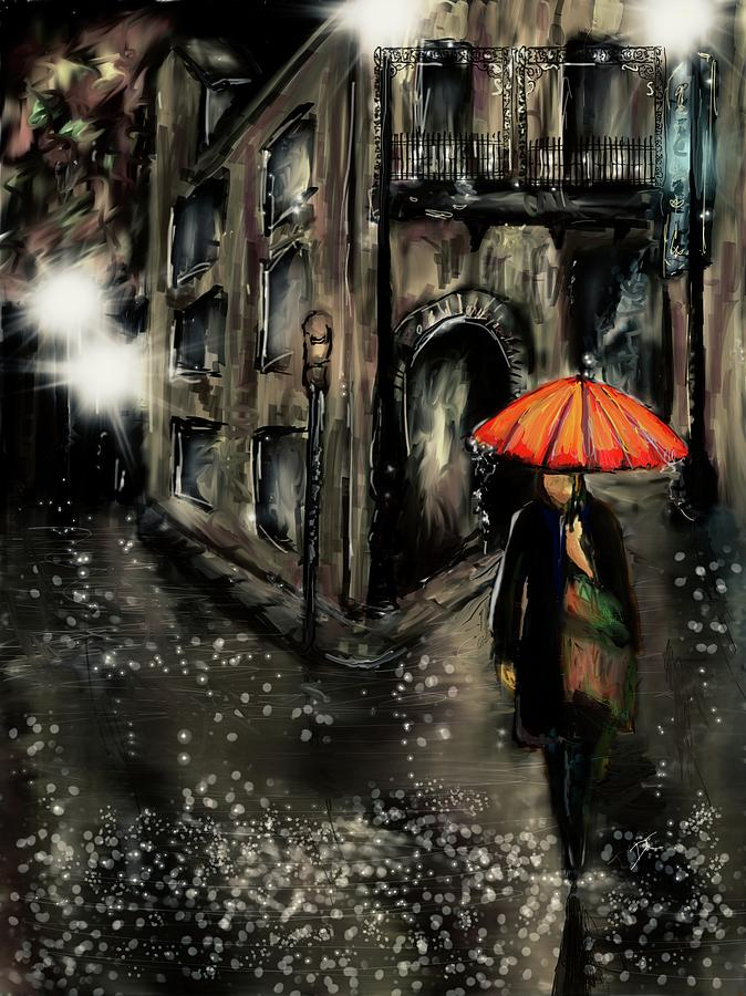 French Digital Art - French Quarter Rain by Darren Cannell