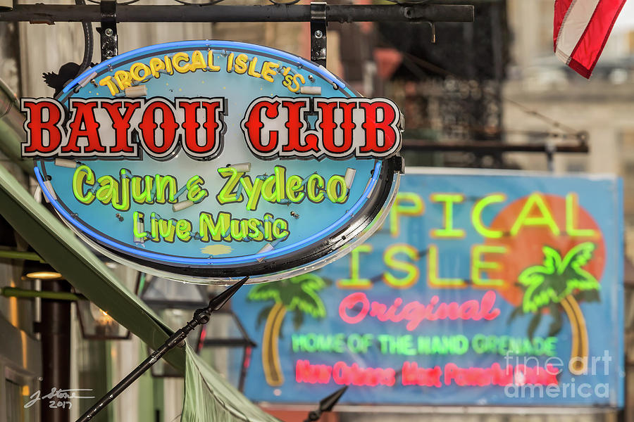 New Orleans French Quarter Photograph - French Quarter Signs by Jeffrey Stone