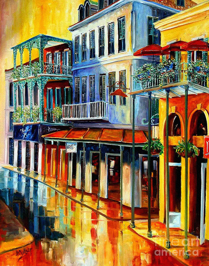 New Orleans Prints Painting - French Quarter Sunrise by Diane Millsap