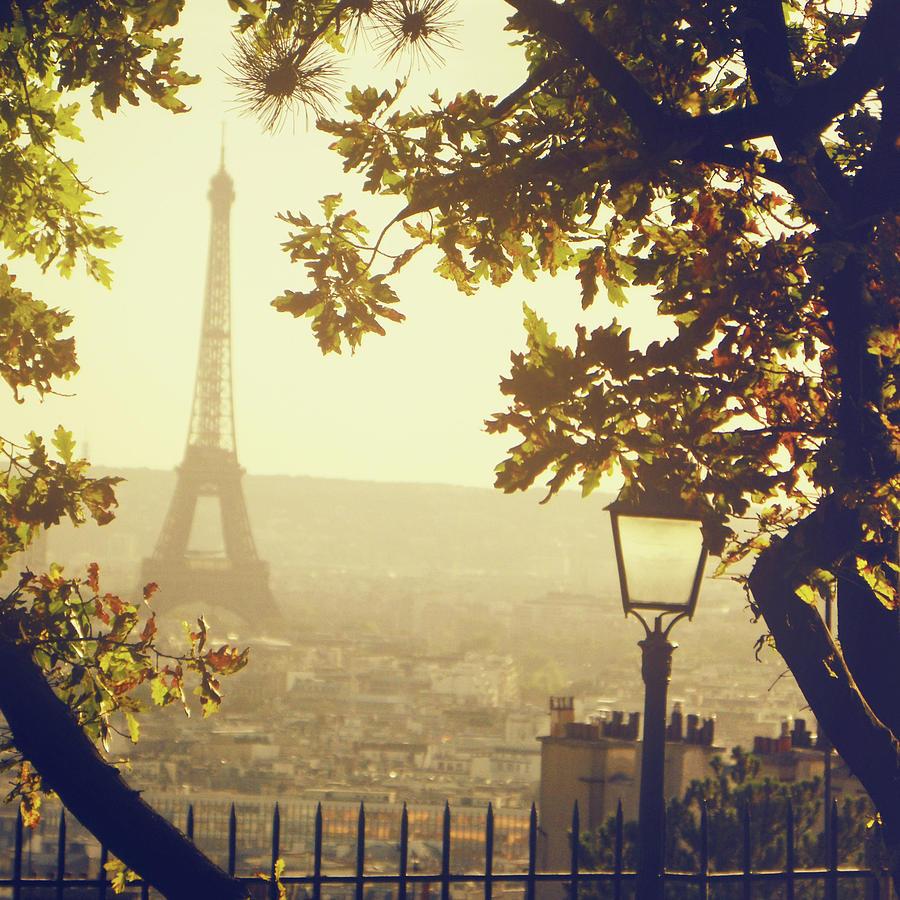 Square Photograph - French Romance by by Smaranda Madalina Cheregi