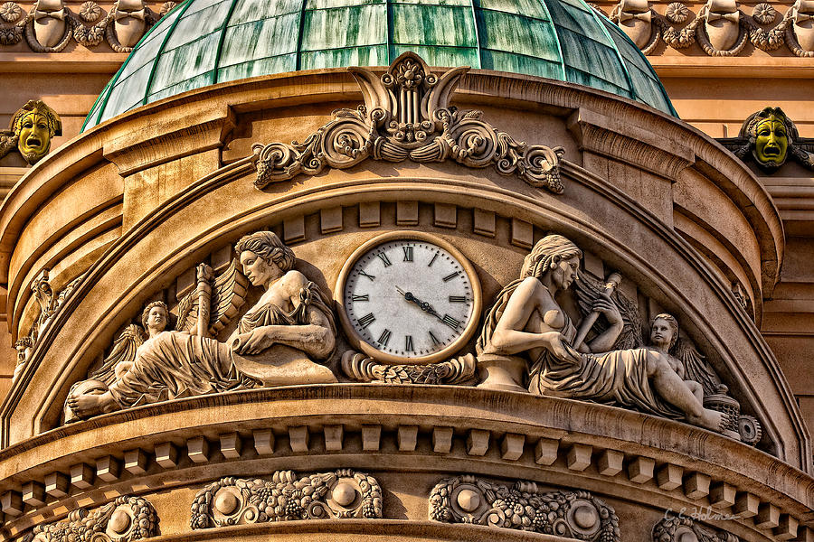 Carving Photograph - French Time by Christopher Holmes