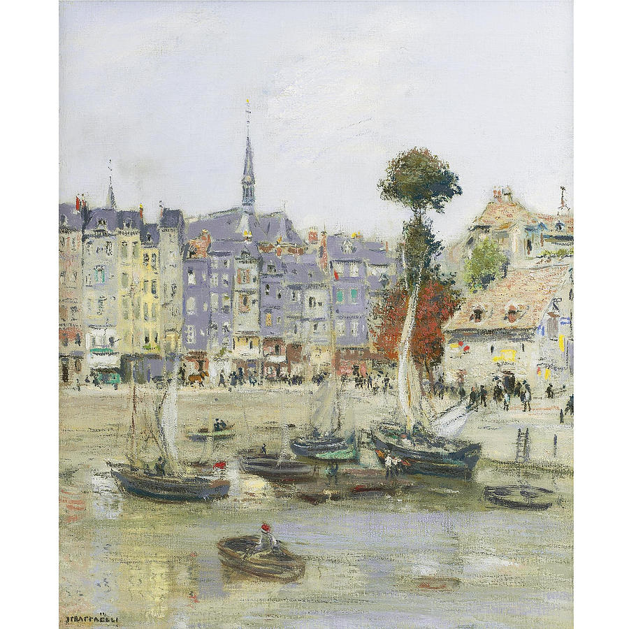 Kingdom Painting - French View Of Honfleur by Jean Francois