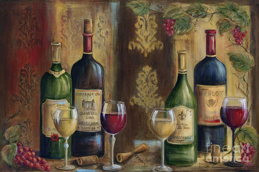 French Wine Tasting Painting By Marilyn Dunlap