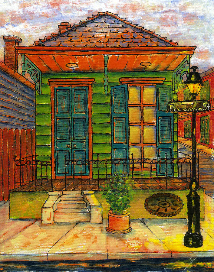 Mansion Drawing: Frenchman Street House New Orleans Painting By Catherine