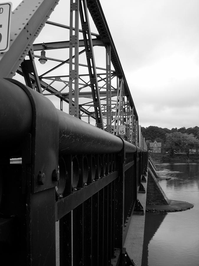 Bridges Photograph - Frenchtown Bridge by Amanda Vouglas