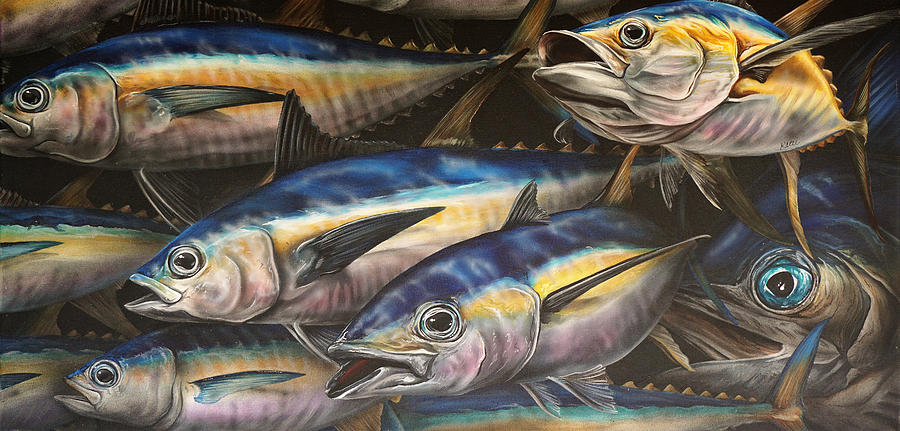 Wildlife Painting - Frenzy by Katie McConnachie