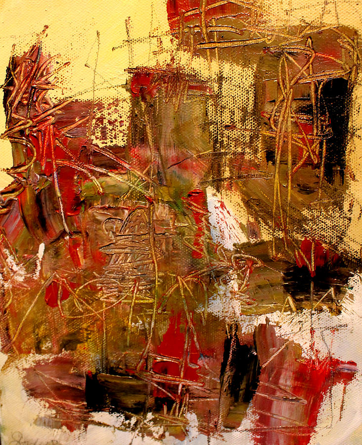 Abstract Painting - Frequency by Jody Scott Olson