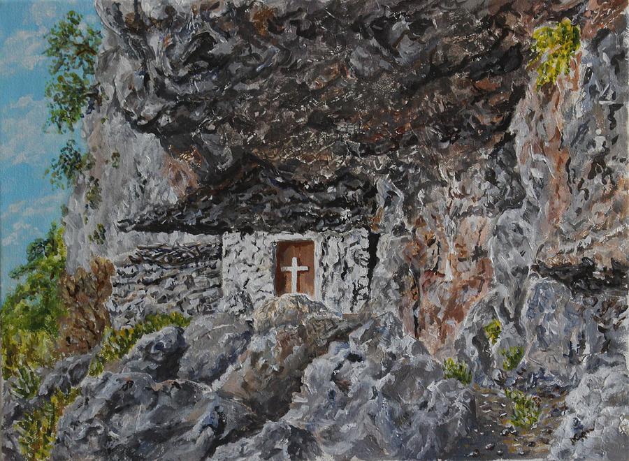 Fres Hidden Church - Crete by David Capon