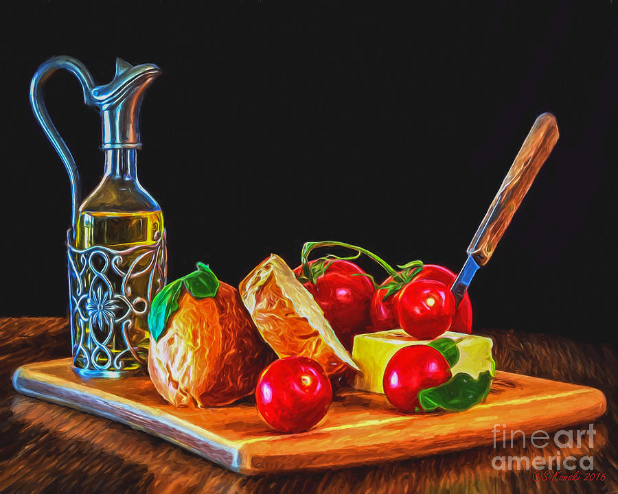 Fresh Appetizers - Painting by Sue Karski
