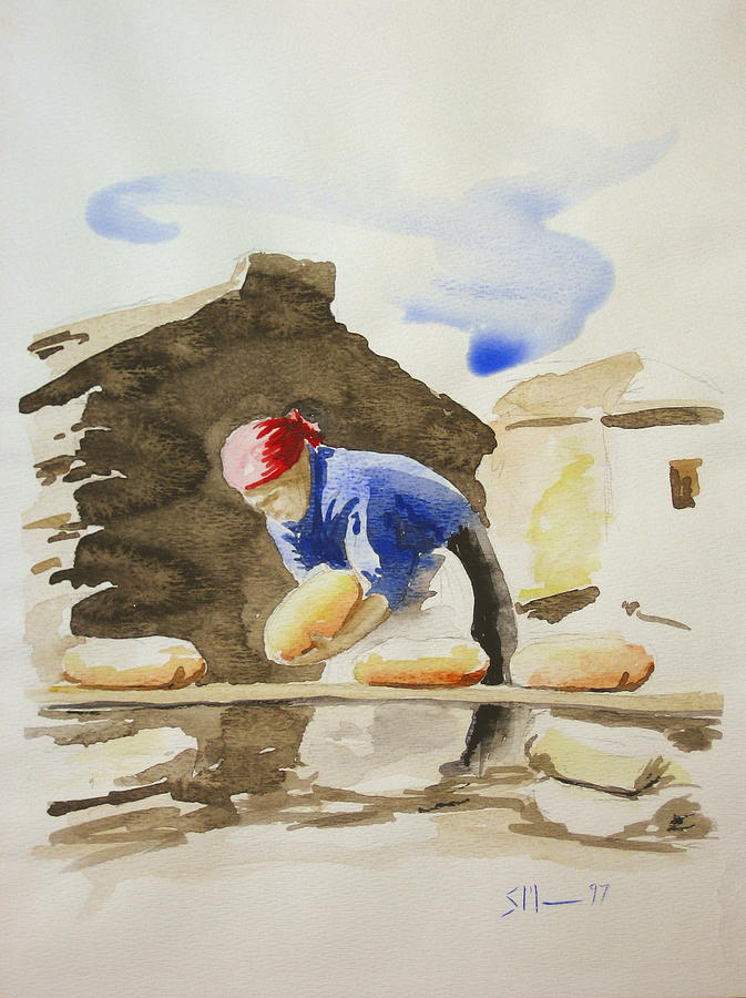 Bread Painting - Fresh Bread by Scott Manning