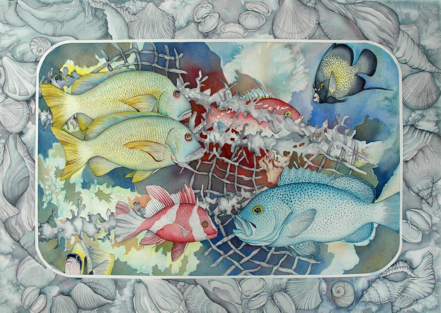 Sealife Painting - Fresh Catch by Liduine Bekman