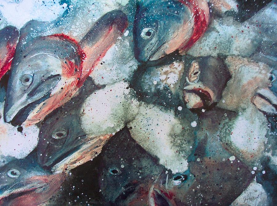 Fish Painting - Fresh Catch by Victoria Heryet