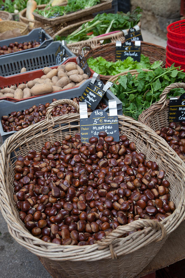 Market Photograph - Fresh Chestnuts by W Chris Fooshee
