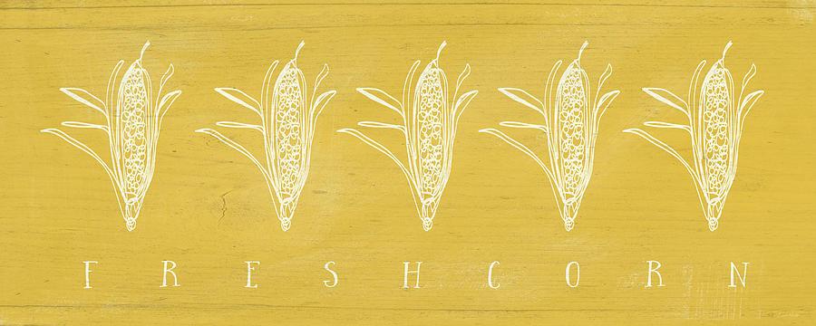 Fresh Corn Mixed Media - Fresh Corn- Art By Linda Woods by Linda Woods