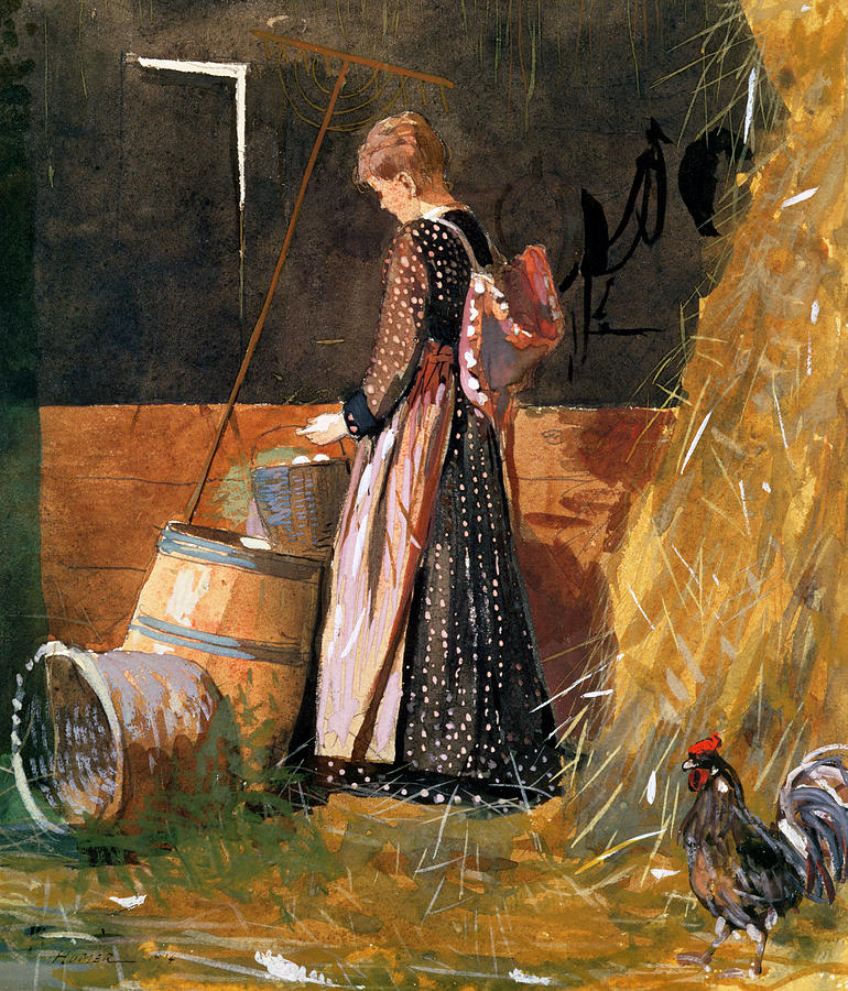 Egg Painting - Fresh Eggs by Winslow Homer