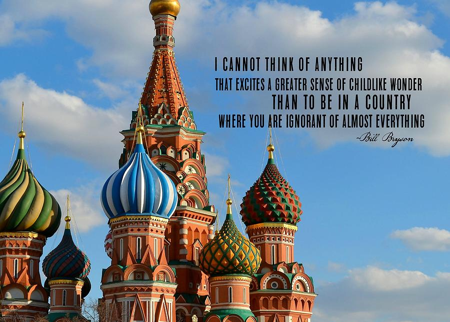 Moscow Photograph - Fresh Eyes Quote by JAMART Photography