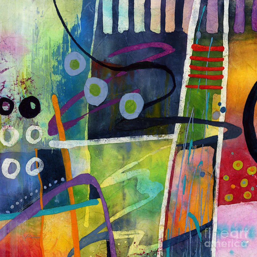 Abstract Painting - Fresh Jazz in a Square by Hailey E Herrera