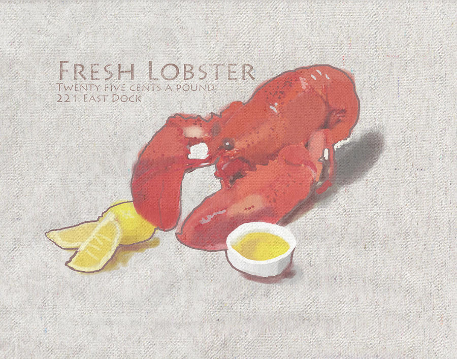 Fresh Lobster Sign Painting