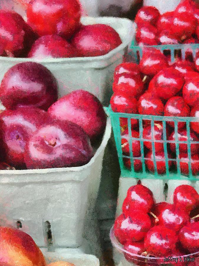 Apple Painting - Fresh Market Fruit by Jeffrey Kolker