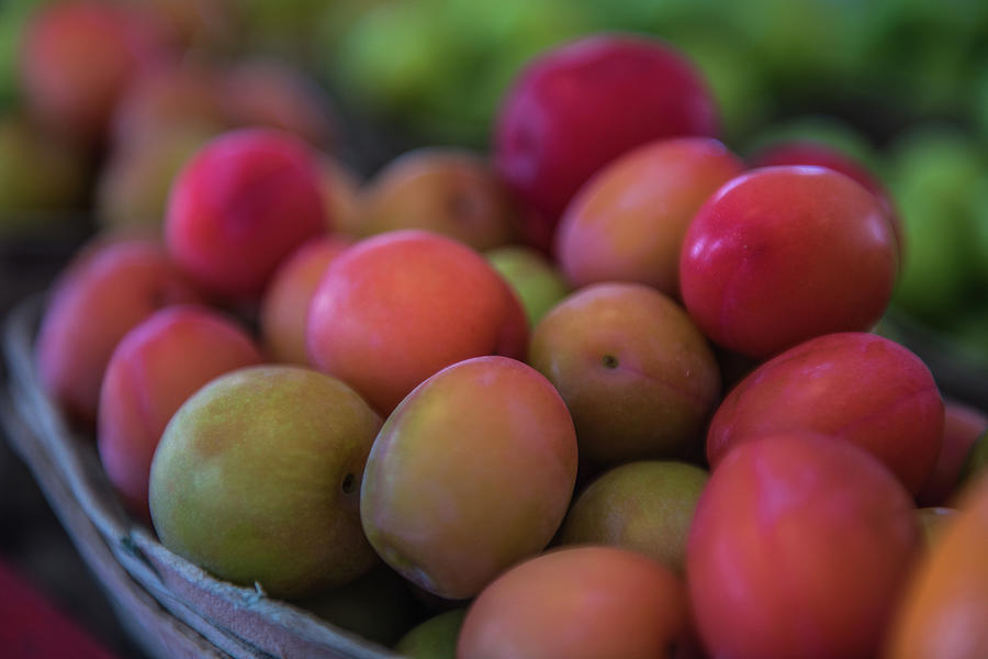 Fresh Market Plums by Randy Walton