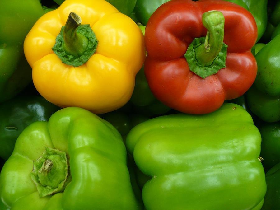 Vegetable Photograph - Fresh Peppers II by Florene Welebny