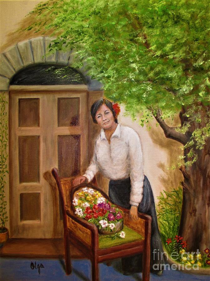 Fresh Picked Flowers by Olga Silverman