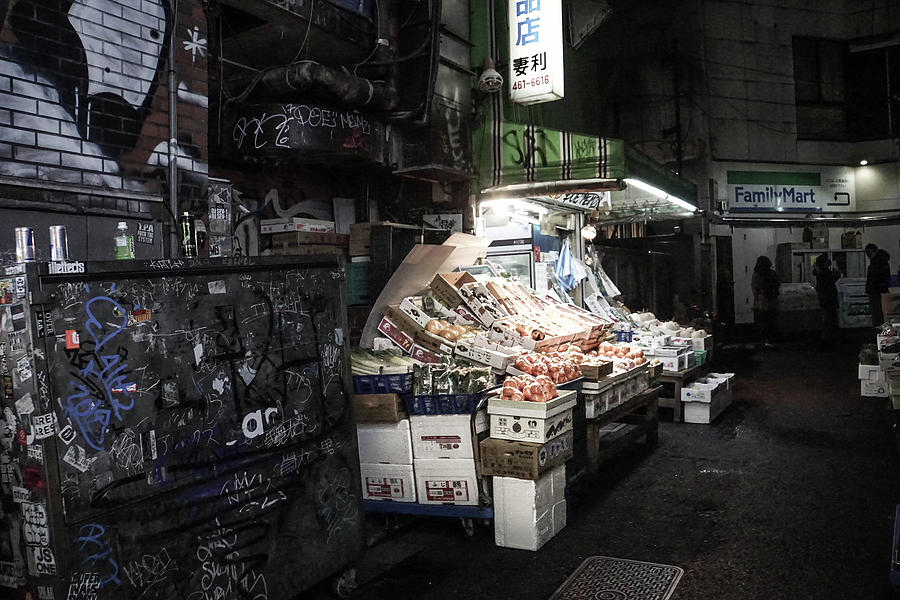 Fresh Produce in a Dark Alley Photograph by Paki OMeara
